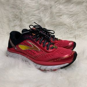Brooks Ghost 9 Women's Running Shoes Pink Sneakers